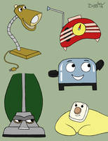 Brave Little Toaster Group by cardinalbiggles