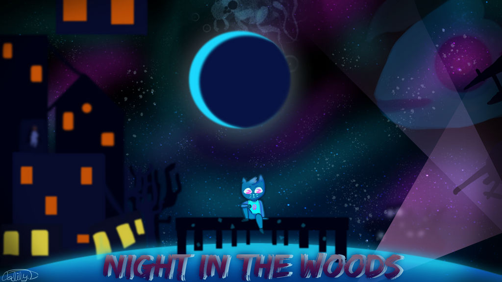 Night In The Woods Wallpaper By Lisianthus Rose On Deviantart