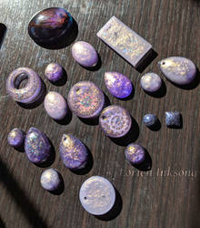 Purple n Chunks Resin Batch by LorienInksong