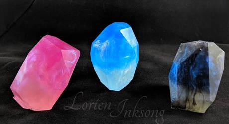 Crystal Trio by LorienInksong