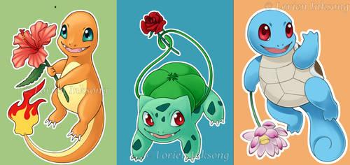 Pokemon Generation 1 Starter Charms