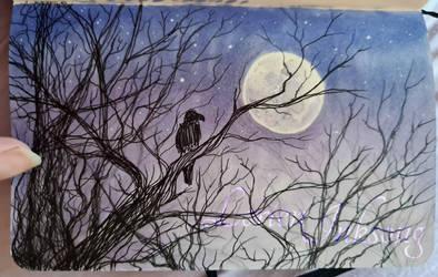 Doodle Book Lilac Dusk Corvid