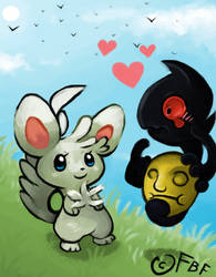 Marilland Pokemon Black 2 Wedlocke PolkaXBergamask by FruitBatFrog