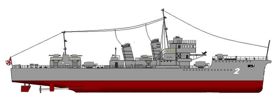 World war 2 Warship - Destroyer no 2 (Japan) by LenRilly95 on DeviantArt