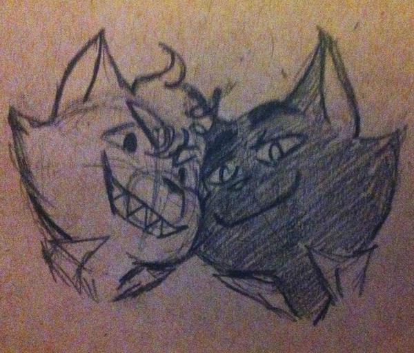 Sam and Riles as Cats by StrawberryBudikai