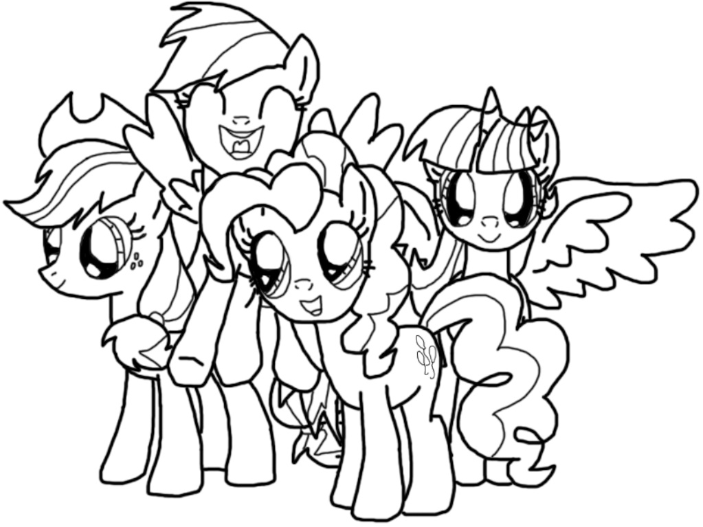 MLP Coloring Twilight Sparkle Pinkie Pie Apple Jack And Rainbow Dash Coloring Fun With