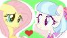 Coco Pommel x Fluttershy Stamp by Princessmarceline2