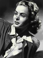 Value portrait study (Ingrid Bergman)