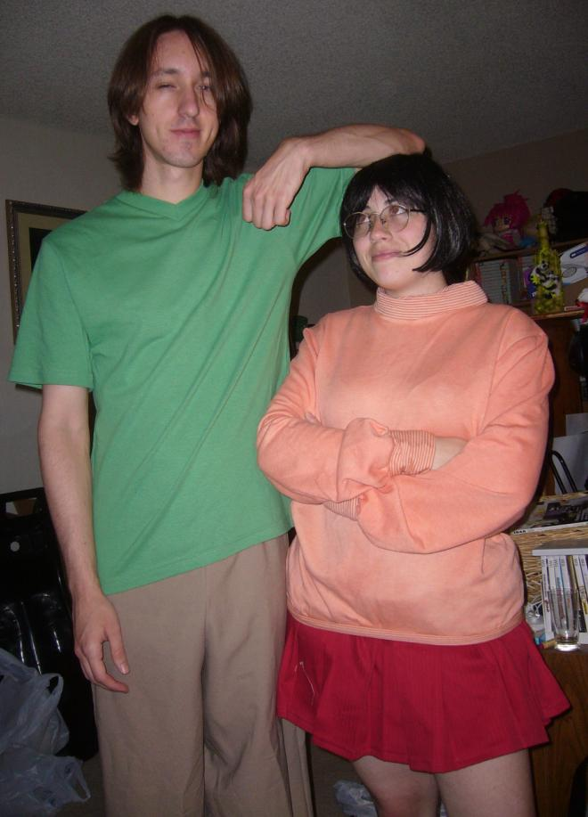 Halloween Velma and Shaggy by pandari