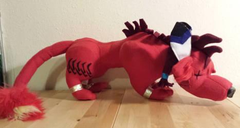 Red XIII custom plush side view