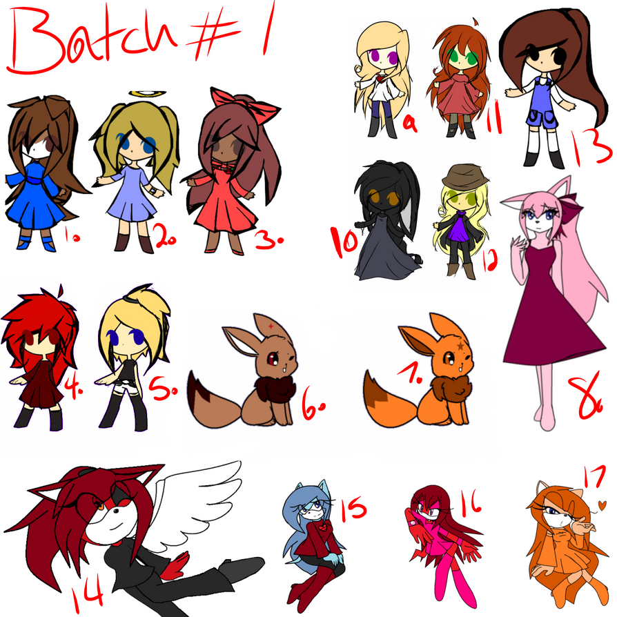 Batch 1 by T0XIC-NEGATIVITY