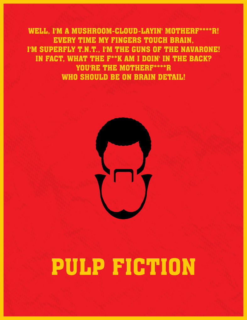 Pulp Fiction Minimal Poster By Kishanharchandani