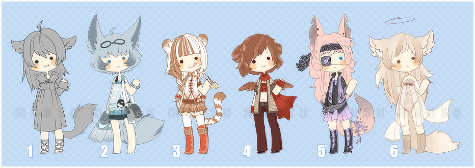 Pick your own color adopts - closed by Mousu