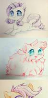 Color Pencil Ponies