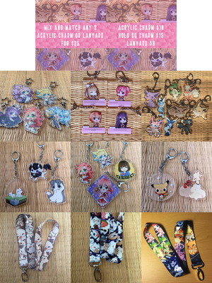 Acrylic Charms and Lanyards by Mousu
