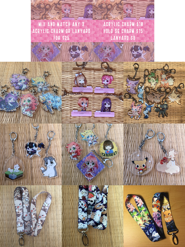 Acrylic Charms and Lanyards