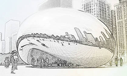 Cloud Gate- Chicago by Kadarr