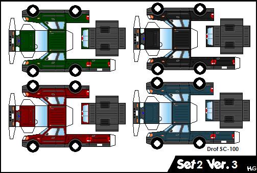 Set 2 - The Pickups V3 by Honda-Geek