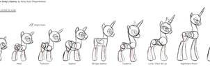 Minty Root's pony size and anatomy chart (v2)