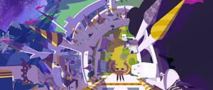 Dinky's Destiny still renders, Canterlot top view