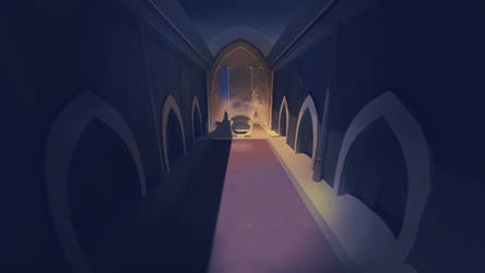 Castle of the two sisters, digital painting test 2 by MintyRoot