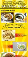 RM. Selera Food Menu Standing Banner