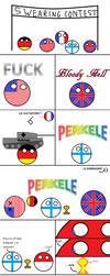 Polandball swearing contest by AstraphUriel