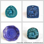 Dragons - small ceramic wall pictures - 2