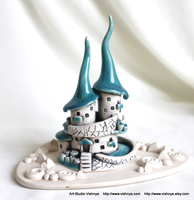 Flowers Turquoise House of tiny fairies by vavaleff