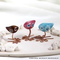 3 romantic birds by studio Vishnya by vavaleff