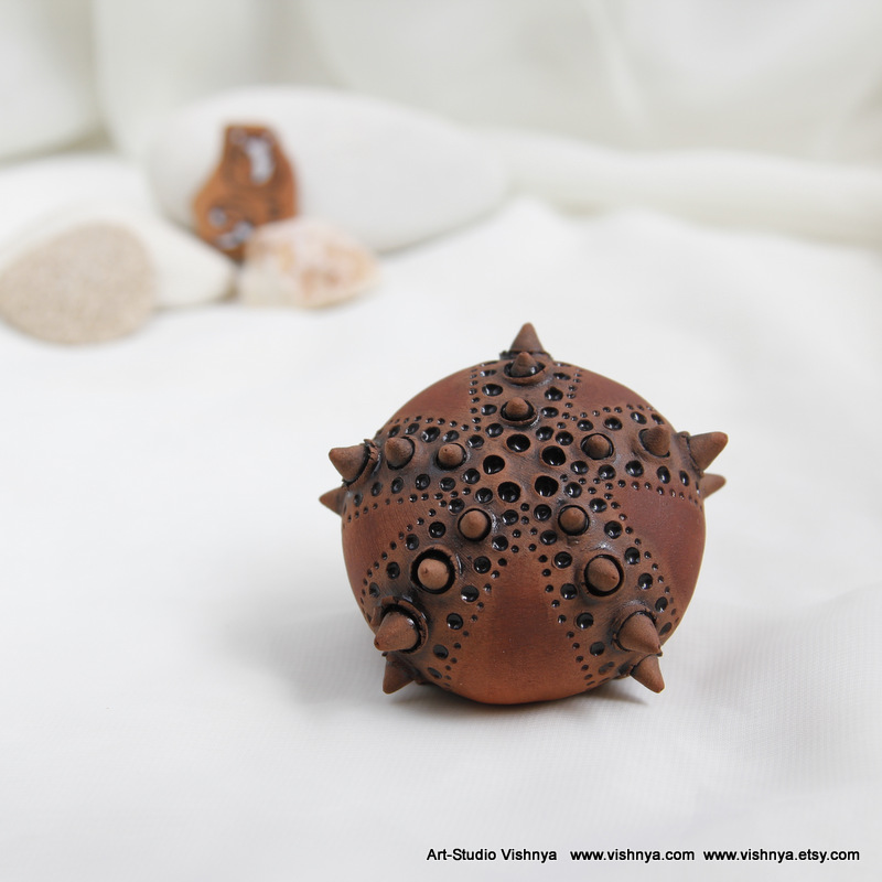 Sea Urchin - terracotta dark toning by vavaleff