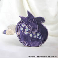 Purple-lavender Fox (Soap Dish - Wall picture)