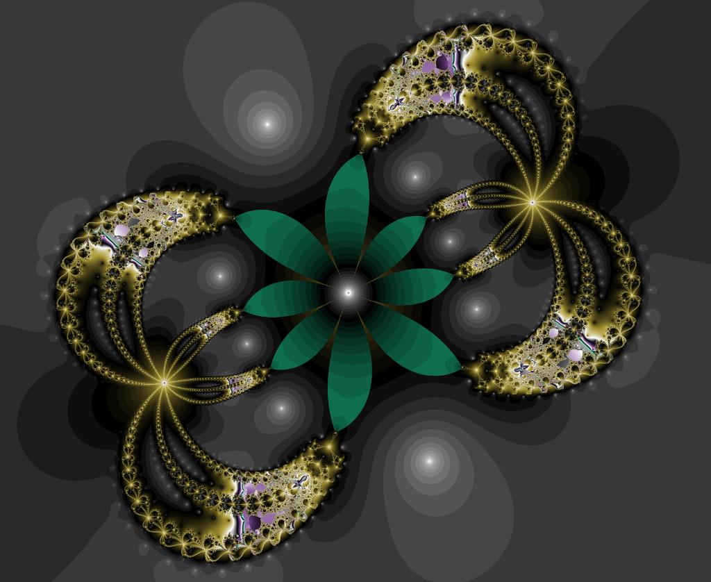 Green flower by maya49m