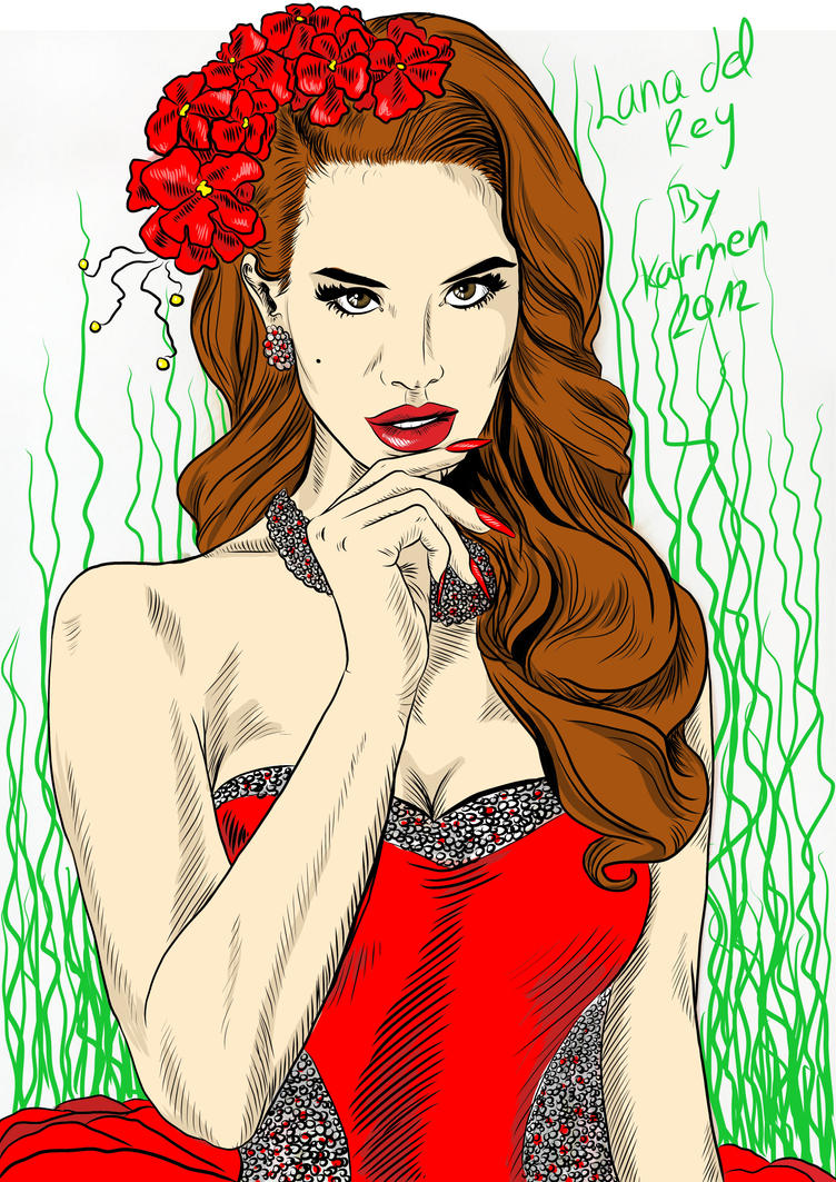 Lana del rey by me color by karmensanda on deviantart for Lana del rey coloring pages