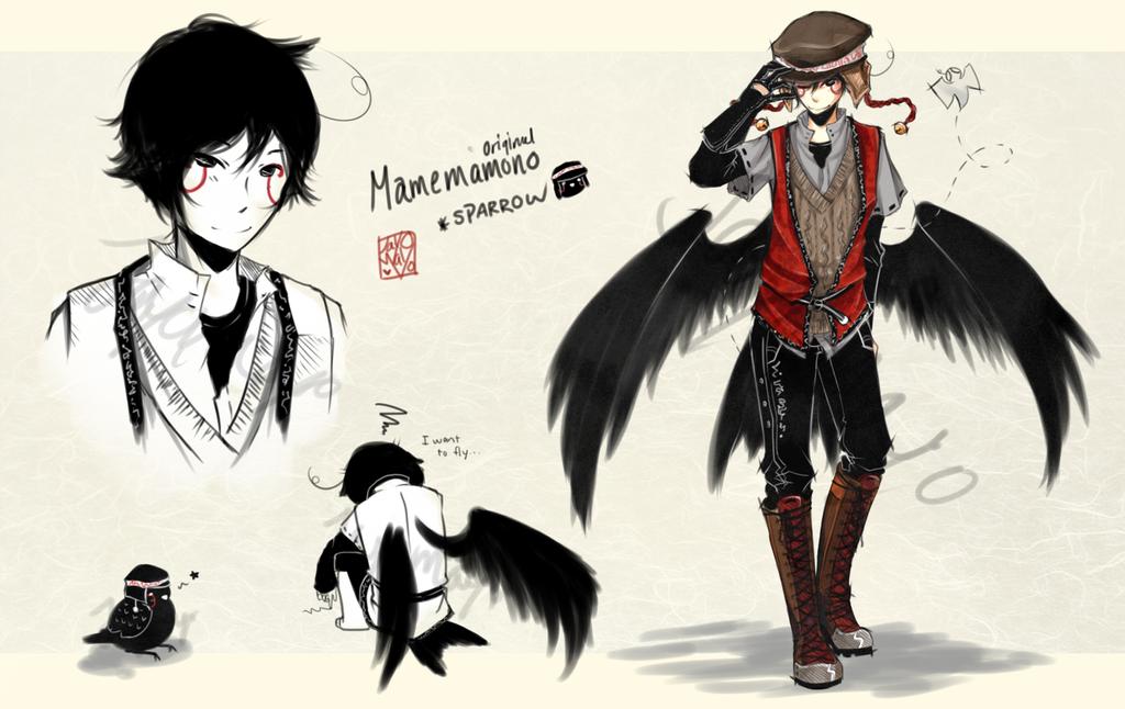 [CLOSED] Mamemamono Adopt ver. Sparrow by mayoujii