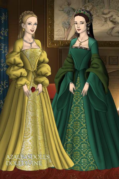 Tudors Anne and Mary Boleyn by SerenDippityDooDah
