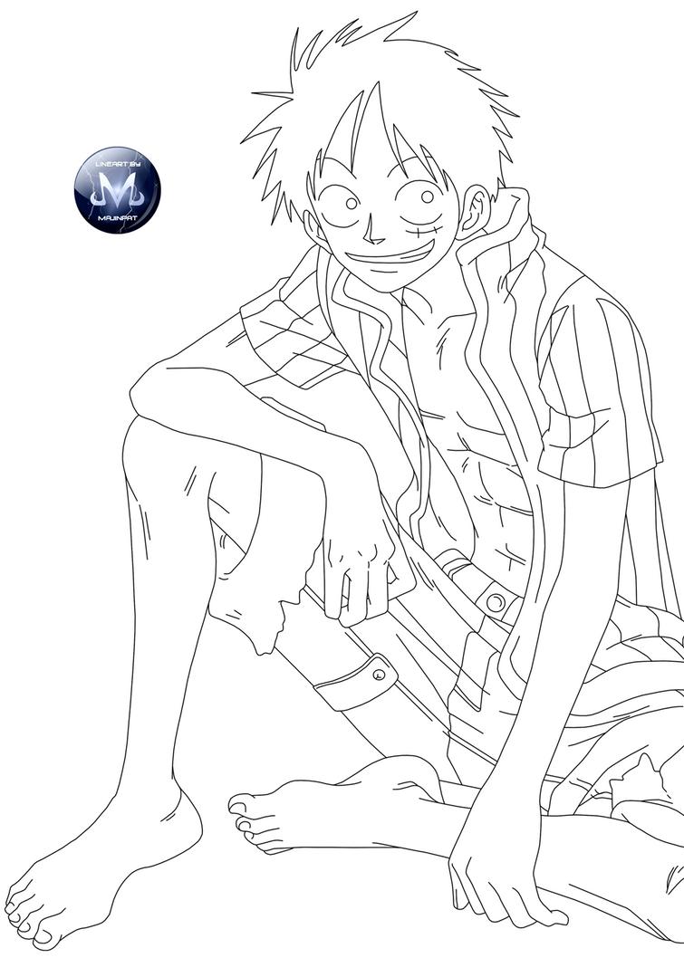 One Piece Lineart : Lineart one piece by majinpat on deviantart