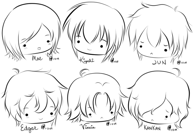 how to draw chibi head