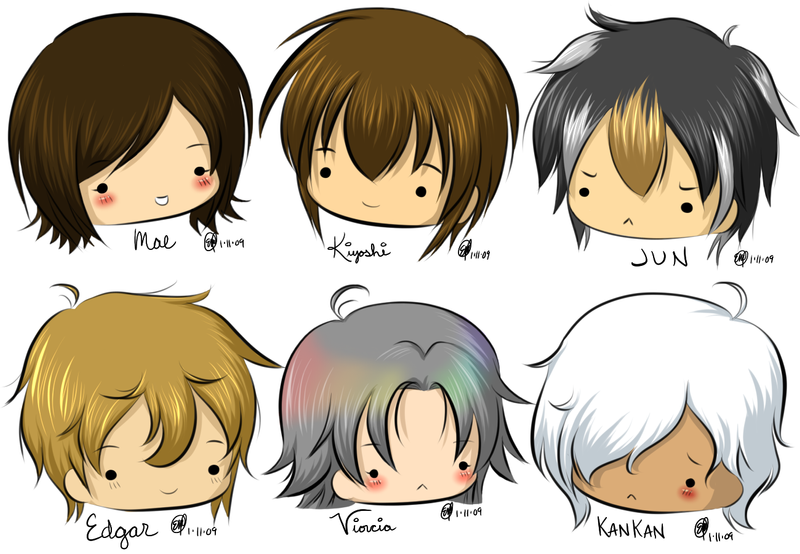 Oc Chibi Heads 1 Color By Maeoneechan On Deviantart