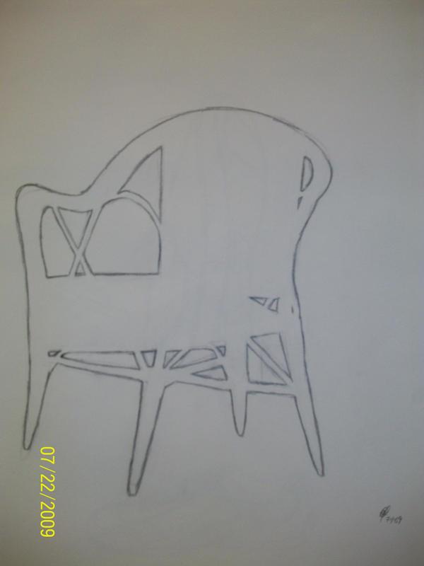 negative space chair by maeoneechan on deviantart