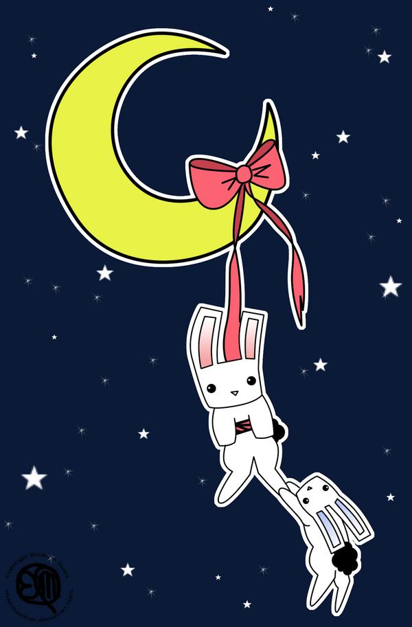 VDay SWAP 07: moon-bunnies v1 by maeoneechan