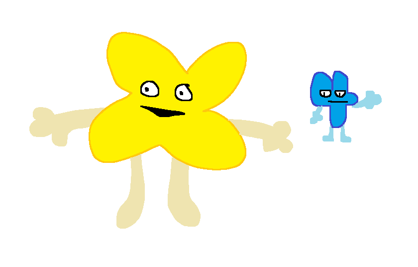 BFDI Month 4: Four and X by Dunkel--Blau on DeviantArt
