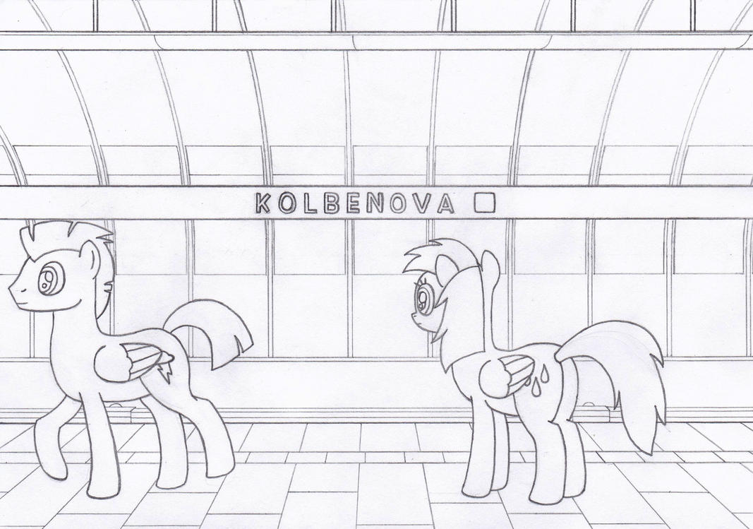 Thunderlane and Raindrops at Kolbenova by Tails-CZ