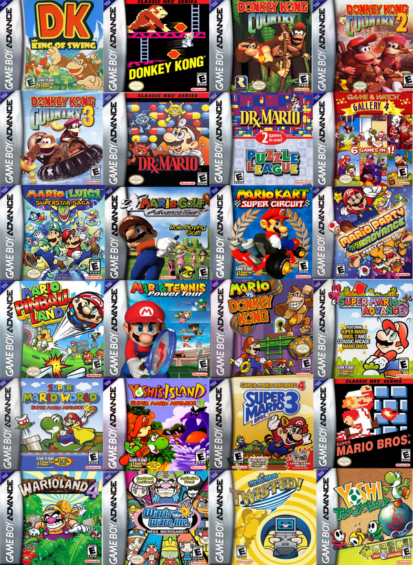 Wide screen games that will work with game boy advance, game boy advance sp, game boy micro, nintendo gamecube game