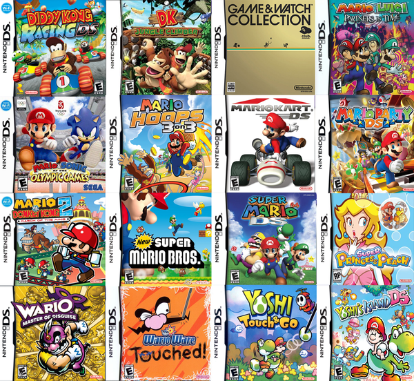 Marios Nintendo DS Games By Sonictoast On DeviantArt