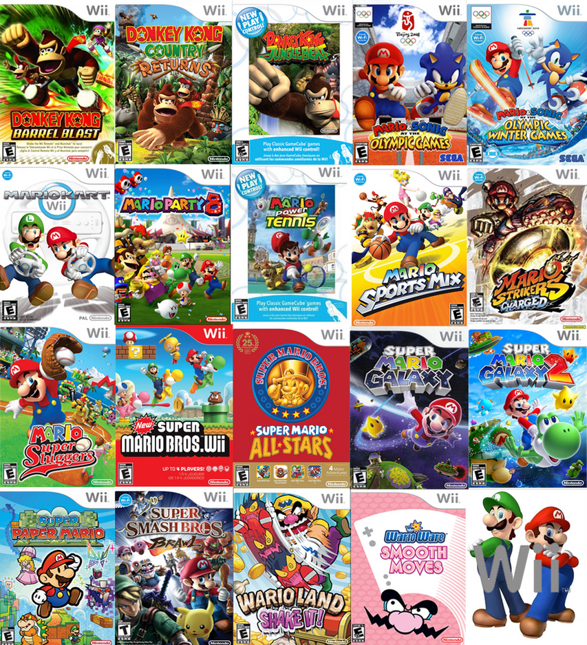 Out For Wii U Games : Mario s wii games by sonictoast on deviantart