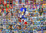 Sonic with his Games