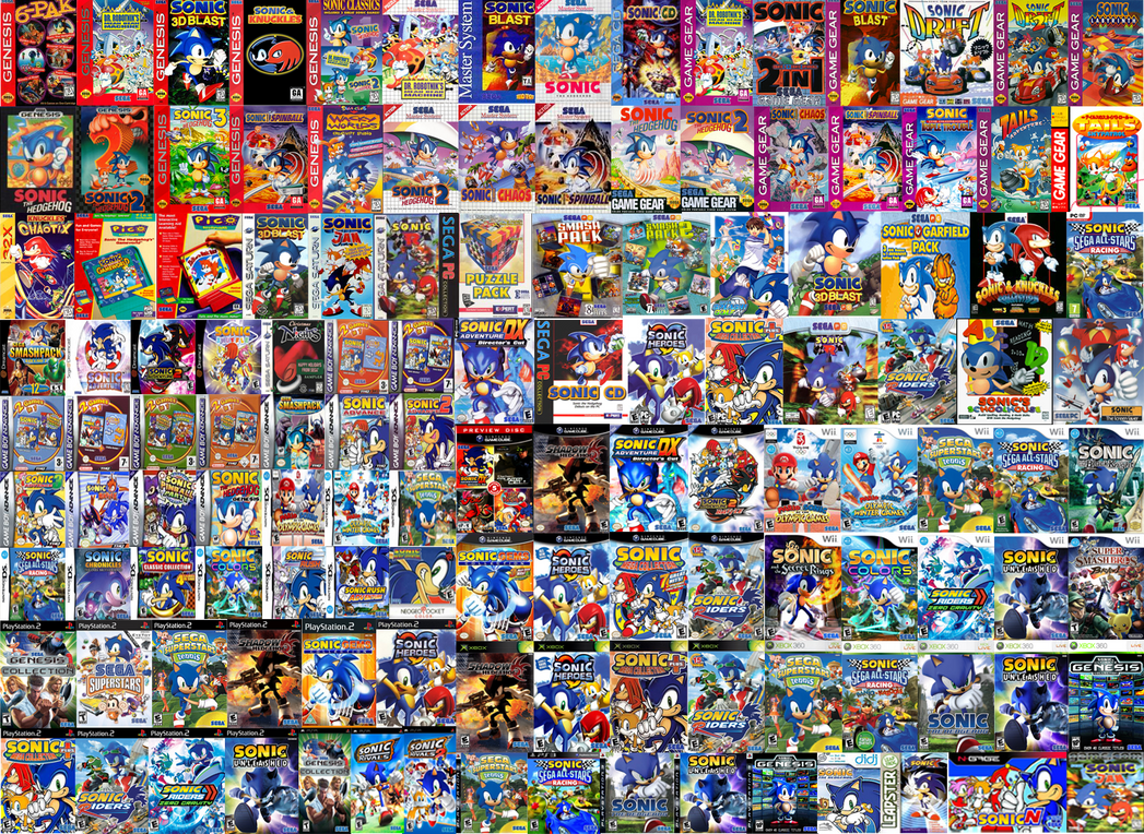 all sonic games by sonictoast on deviantart