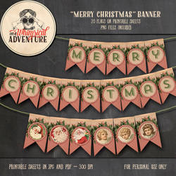 Printable Merry Christmas Banner by Whimsical-Adventure