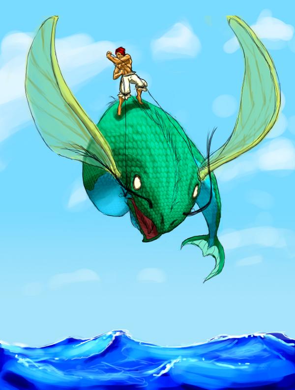 Man kan åka flygfisk